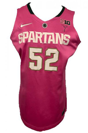 2012-2013 Nike Authentic MSU Women's Basketball Jersey Pink #52 Size 48