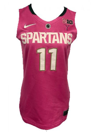 2012-2013 Nike Authentic MSU Women's Basketball Jersey Pink #11 Size 42