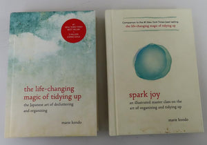 Marie Kondo [2 books] The Life-Changing Magic of Tidying Up: The Japanese Art of Decluttering and Organizing and Spark Joy: an Illustrated Master Class on the Art of Organizing and Tidying Up (2014, 2016)