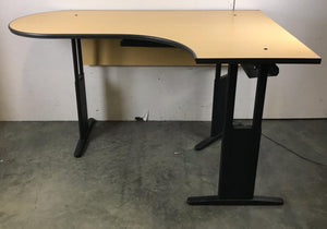 Adjustable Height L-Shape Desk