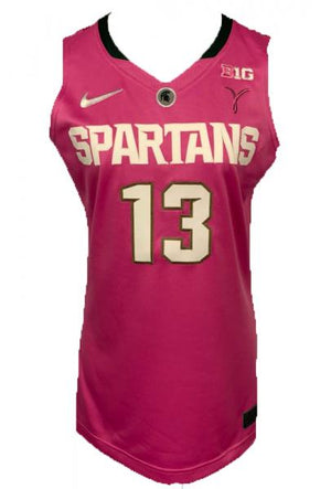 2014-2015 Nike Authentic MSU Women's Basketball Jersey Pink #13 Size 44