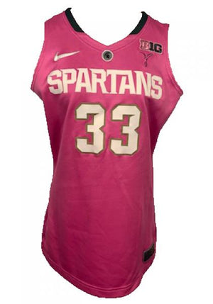 2012-2013 Nike Authentic MSU Women's Basketball Jersey Pink #33 Size 46