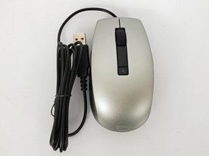 Dell MOCZUL Black and Silver USB Optical Mouse NEW
