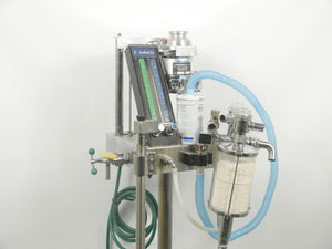 Dupaco Veterinary Anesthesia Machine with Empty Fluotech Mk3 Halothane Canister