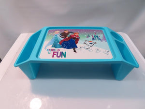 Disney Frozen Blue Breakfast/Game Bed Table with Side Slots