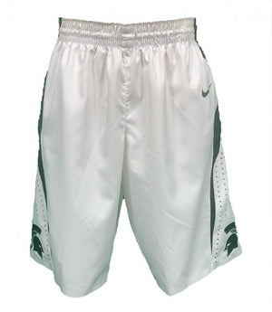 2014-2015 Nike White Authentic MSU Women's Basketball Shorts Size 38 +2L