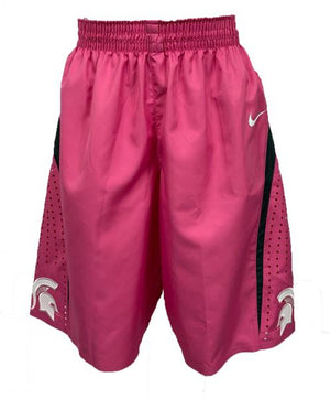 2014-2015 Nike Pink Authentic MSU Women's Basketball Shorts Size 36