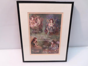 Framed Art by Lisa Jones Fairies with Hans Christian Anderson Quote