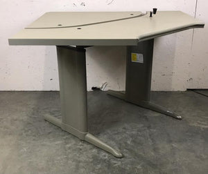 Steelcase Gray Adjustable Corner Desk