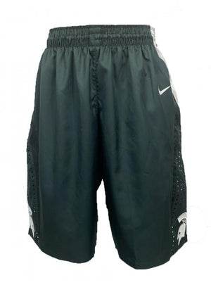 2012-2013 Nike Green Authentic MSU Women's Basketball Shorts Size 40