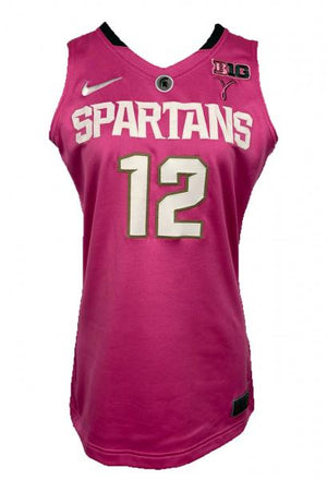 2012-2013 Nike Authentic MSU Women's Basketball Jersey Pink #12 Size 44