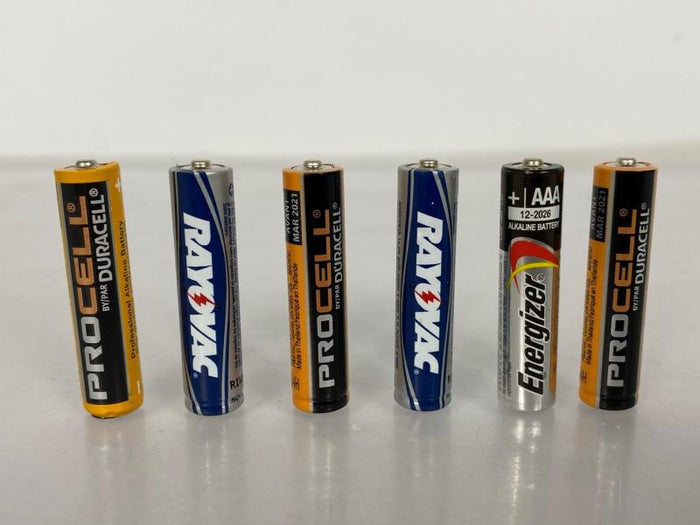 Used AAA Alkaline Batteries 6-Pack Tested