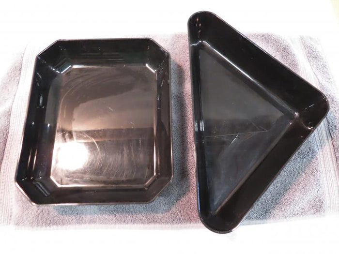 Set of 2 Showfest Black Plastic Serving Dishes