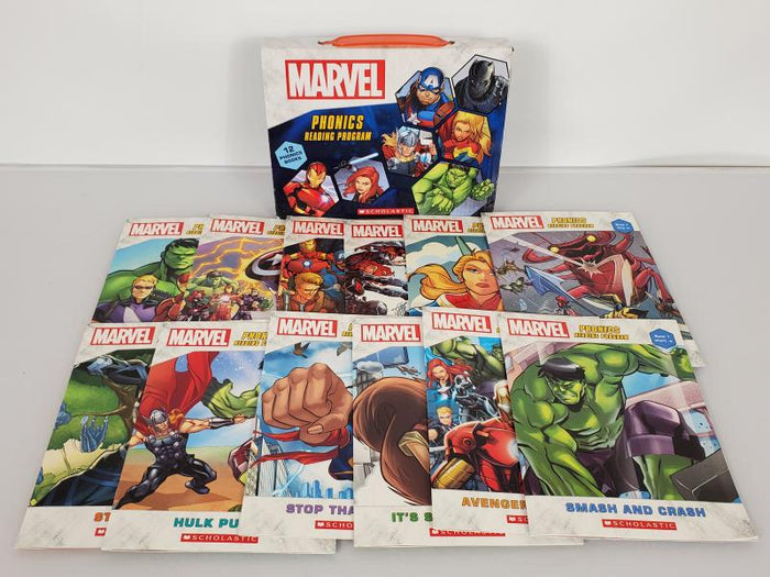 Lot of 12 Marvel Phonics Reading Program Books