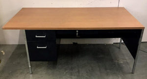 Steelcase 3-Drawer Desk *Lock and Key*
