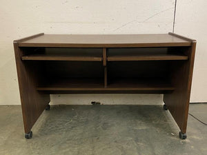 Wooden 2-Drawer Supply Desk