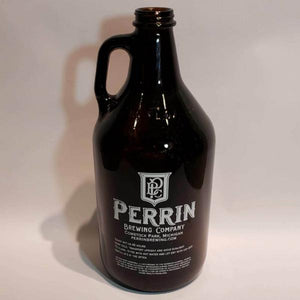 Perrin Brewing Company Empty 64 Ounce Brown Beer Growler