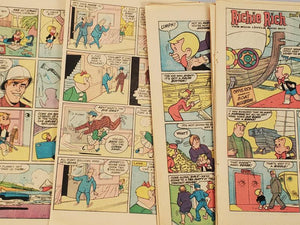 Vintage Comic Book Paper Pack of 25