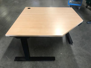 TiMotion Raise and Lower Corner Square Desk