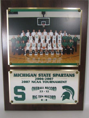 Michigan State Spartans 2006-2007 Basketball Team Plaque