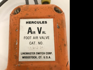 Hercules Air Val Foot Air Valve Linemaster Switch Corp