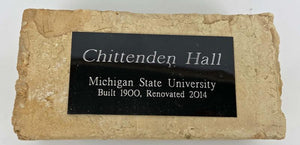 Chittenden Hall Commemorative Brick