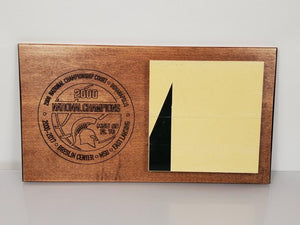 2000 Men's Basketball Championship Floor Horizontal Commemorative Plaque