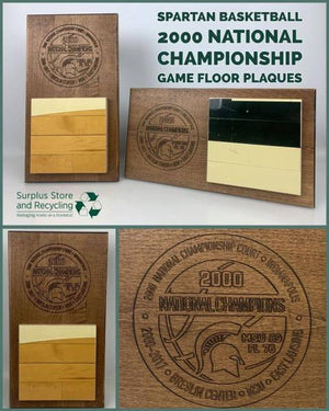 2000 Men's Basketball Championship Floor Vertical Commemorative Plaque