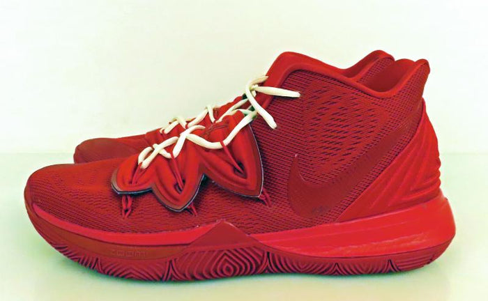 Nike Kyrie 5 Red Custom Basketball Shoes Men's Size 16