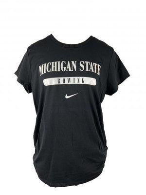 Nike MSU Rowing Black Short Sleeve T-Shirt Women's