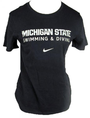 Nike Michigan State Swimming & Diving Black Short Sleeve T-Shirt Women's