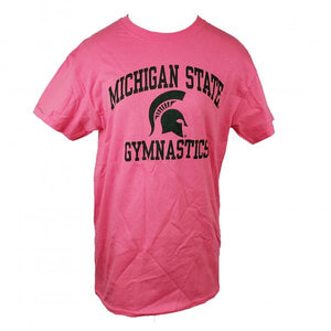 Michigan State Gymnastics Pink Short Sleeve T-Shirt Youth