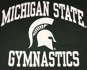 Michigan State Gymnastics Green Short Sleeve T-Shirt Youth