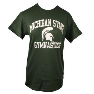 Michigan State Gymnastics Green Short Sleeve T-Shirt Adult