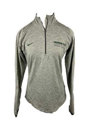 MSU Grey Nike Cross Country/Track 1/4 Zip Women's Pullover