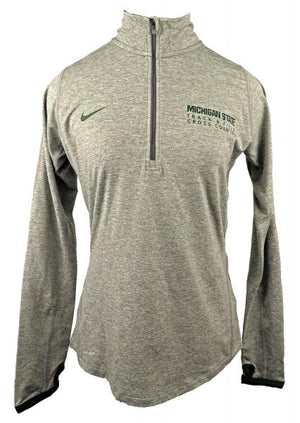Nike Gray Dri-Fit 1/4 Zip Pullover Running Jacket Women's