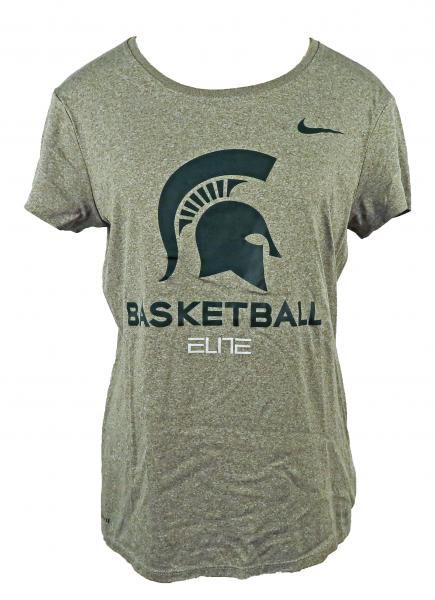 Nike Gray & Green Dri-Fit Basketball Short Sleeve T-Shirt Women's Size L