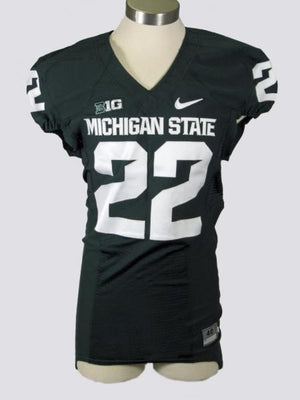 2010-2014 Authentic MSU Football Green Home Jersey