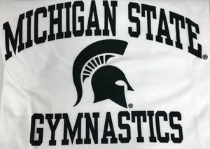 Michigan State Gymnastics White Short Sleeve T-Shirt Youth