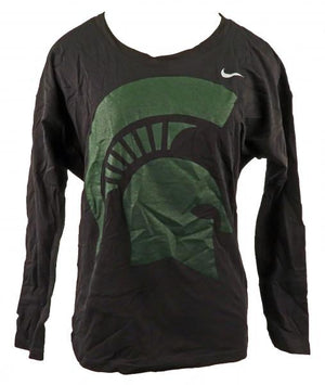 Nike Black & Green Long Sleeve Shirt Women's Size S