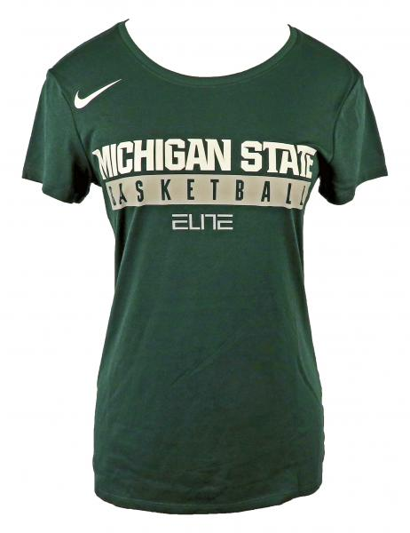 Nike Green & White Dri-Fit Short Sleeve MSU Basketball T-Shirt Women's Size S