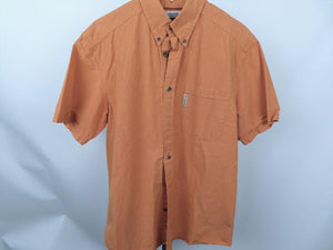 Columbia Orange Casual Short Sleeve Shirt Mens Size M
