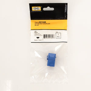 Hubbell SFC6B Cat 6 Snap-Fit Inline Coupler Blue 10-Pack