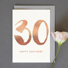 Load image into Gallery viewer, Single 30th Birthday Card (Including UK P&P)