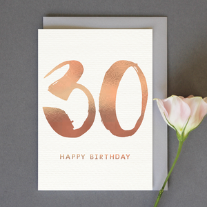 Single 30th Birthday Card (Including UK P&P)