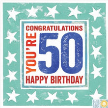 Load image into Gallery viewer, Single 50th Birthday Card (Including UK P&P)