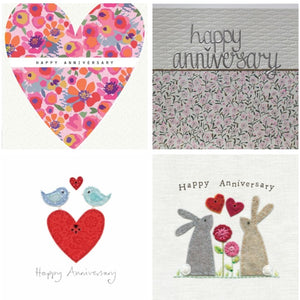 Single Anniversary Card (Including UK P&P)