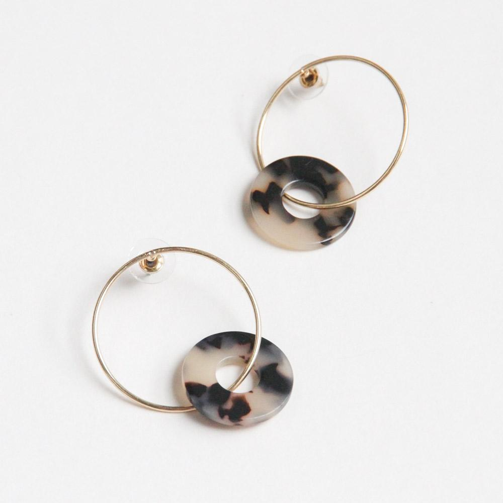 Gold & Tortoise Shell Hoops