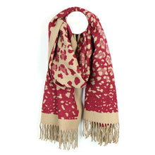 Load image into Gallery viewer, Magenta & Camel Scarf
