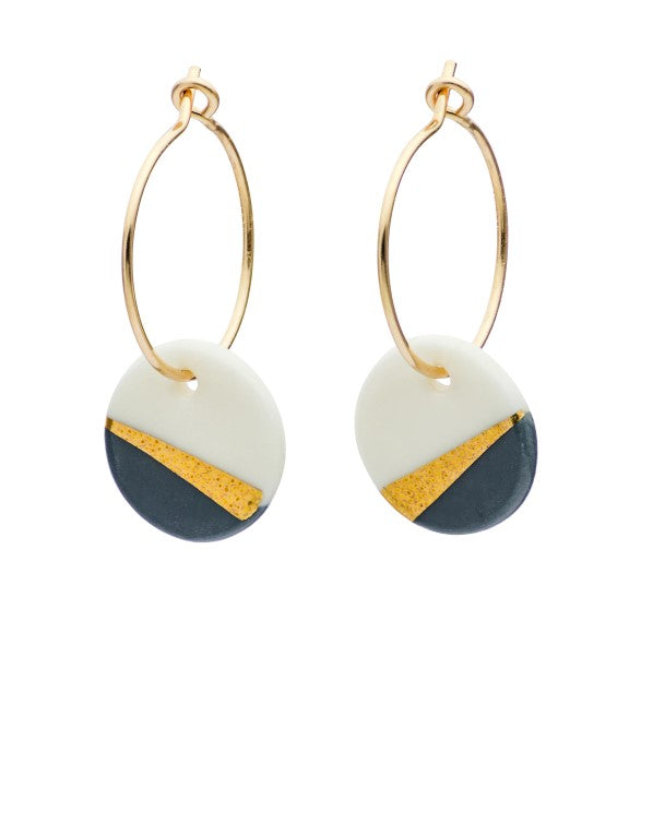 Ray Porcelain & Slate Earrings